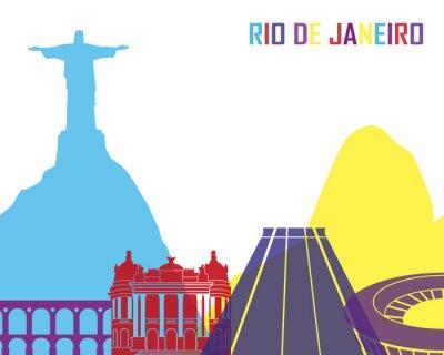 Fototapeta Rio de Janeiro skyline pop