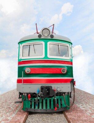 Fototapeta rocznik pociągu