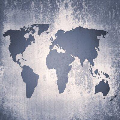 Fototapeta rocznik wina, mapa świata