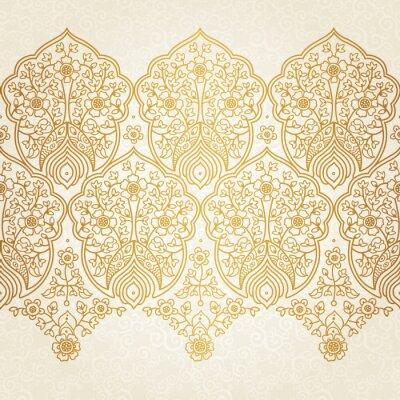 Fototapeta Rocznika bez szwu granicy z koronkowym ornamentem.