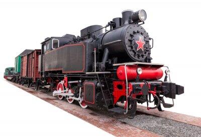 Fototapeta rocznika, duży, pociąg parowy