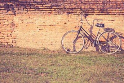 Fototapeta Rocznika rower w Sukhothai Historical Park w Tajlandii