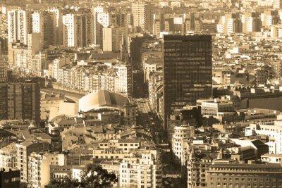 Fototapeta Rocznika tle stylu retro Bilbao pejzaż, Bizkaia, Ba