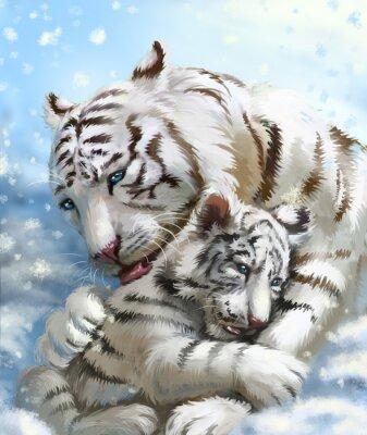 Fototapeta rodzina tygrysa