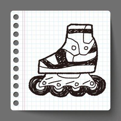 Fototapeta Rolki doodle