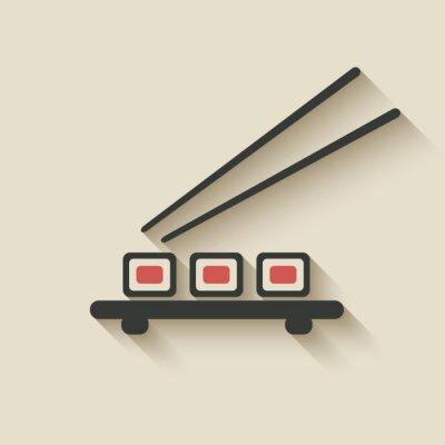 Fototapeta roll sushi ikona