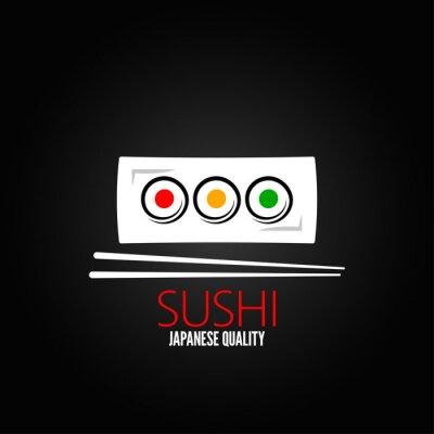 Fototapeta roll sushi menu wzór tła płyta
