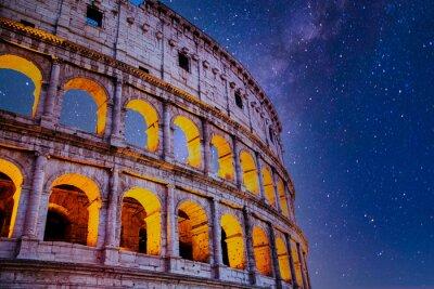 Fototapeta Roman Colosseum at Night with Stars
