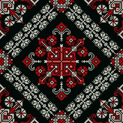 Fototapeta Romanian traditional pattern 172