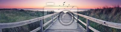 Fototapeta romantyczna panorama plaży