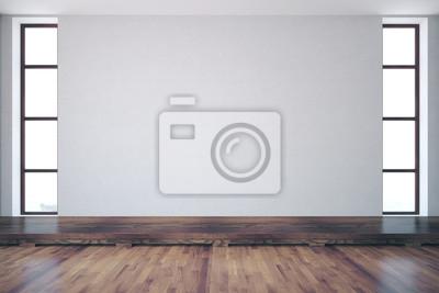 Fototapeta Room with empty concrete wall