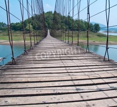 Fototapeta Rope bridge in Kaeng Krachan National Park, Phetchaburi, Thaiand