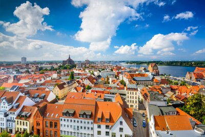 Fototapeta Rostock, Niemcy Skyline