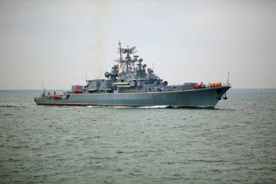Fototapeta Rosyjski okręt wojenny