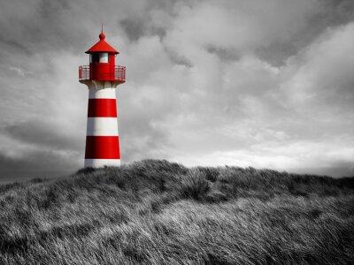 Fototapeta Rot-Weißer Leuchtturm