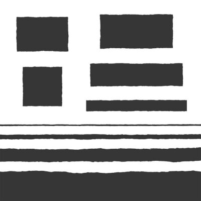 Fototapeta Rough Edge Text Box Shape Vector Flat Backgrounds Set