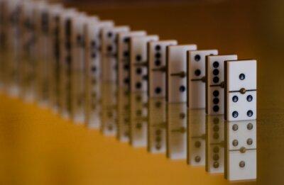 Fototapeta Row of dominoes