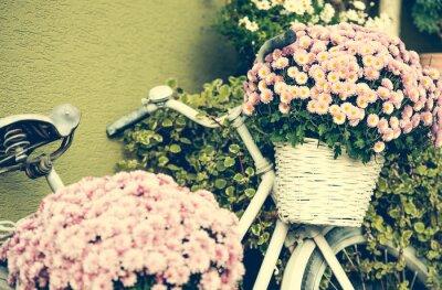 Fototapeta Rower z kwiatami