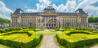 Fototapeta Royal Palace in City of Brussels in Belgium at sunny summer day