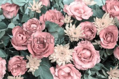 Fototapeta Różany rocznika stylu abstrakta tło. zrobić przypomina rysunki. Koncepcja stylu vintage