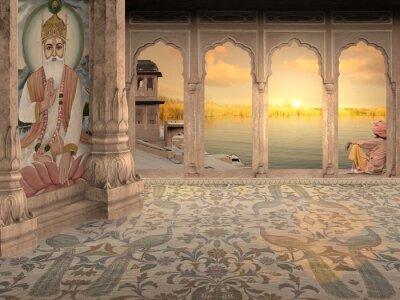 Fototapeta Rozmyślając w pałacu.