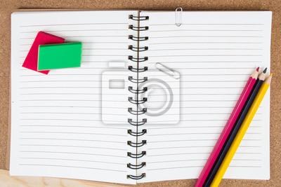 047dfc5140ae8 Fototapeta Różne artykuły biurowe i szkolne na wymiar • czerwony ...