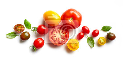 Fototapeta różne kolorowe pomidory