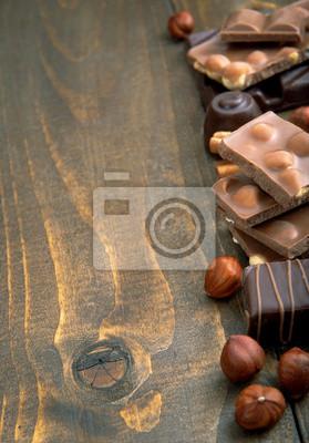 Różnorodność czekolady z miejsca na kopię