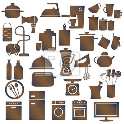 Różnych urządzeń gospodarstwa domowego i naczynia kuchenne