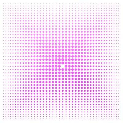 Fototapeta Różowa kropka z białym tłem