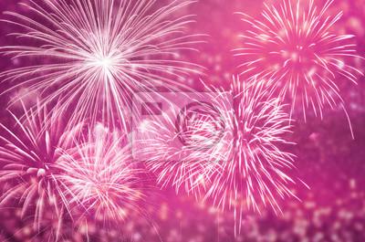 Fototapeta Różowe fajerwerki co świętować i kopiowania.