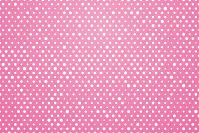 Fototapeta różowe tło z białymi kropkami