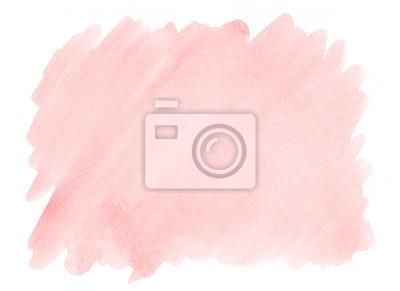 Fototapeta Różowy akwareli tło z wyraźną teksturą papier dla dekorować projektów produkty i druk.