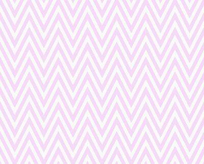 Fototapeta Różowy i biały zygzak Textured Tło Wzór tkaniny Powtórz