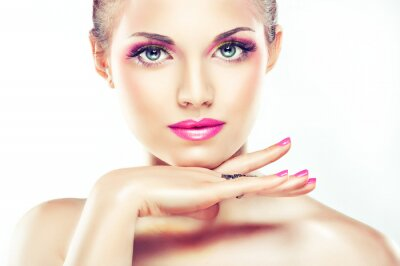 Fototapeta Różowy make up