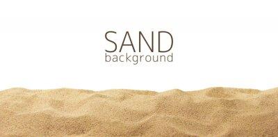 Fototapeta Rozpraszanie piasku samodzielnie na białym tle