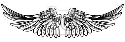 Fototapeta Rozprzestrzenianie Para anioła czy skrzydła orła