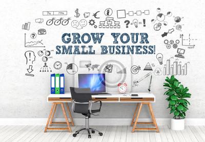 Fototapeta Rozwijaj swoją małą firmę! / Biuro / Ściana / Symbol