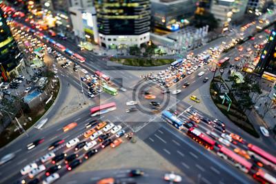 Fototapeta Ruchliwym skrzyżowaniu w Seul
