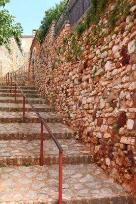 Fototapeta rue escalier Roussillon