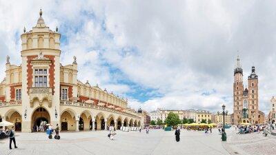 Fototapeta Rynek Starego Miasta w Krakowie, Polska -Stitched Panorama