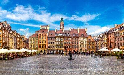 Fototapeta Rynek staromiejski w Warszawie