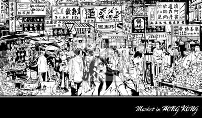 Rynek w Hong Kongu
