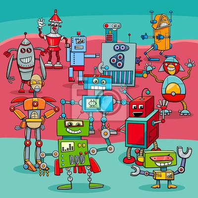 Fototapeta rysunki robotów fantasy na wymiar • projekt, wesoły ...