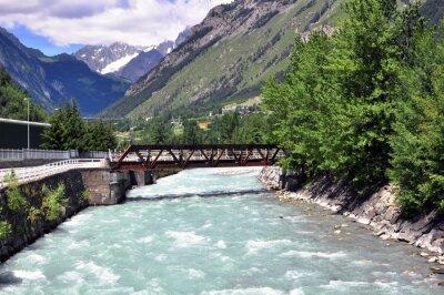 Fototapeta Rzeka w górach