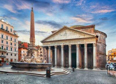 Fototapeta Rzym - Panteon, nikt
