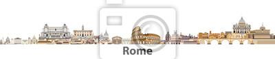 Fototapeta Rzym wektora panorama miasta
