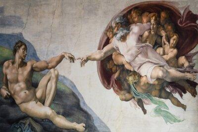 Fototapeta Rzym Włochy 08 marca stworzenie Adama przez Michała Anioła