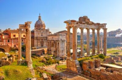 Fototapeta Rzymskie ruiny w Rzymie, Forum