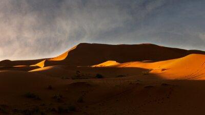 Sahara Desert during sunset, Merzouga, Morocco
